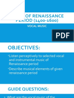 2Music of renaissance period (1400-1600) 2nd [Autosaved]