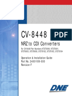 CV8448 NRZ TO CDI CONVERTER OPERATION AND INSTALLATION GUIDE