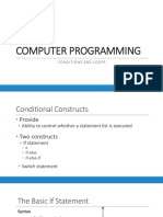 CP - Conditional Statements  Loops