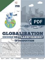 Globalisation Ending or Transforming
