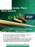 The Hindu Arabic Place Value System