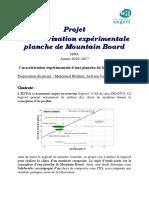 Projet conception EI2 - Caractérisation expérimentale d'une planche de mountain board