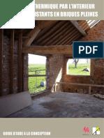 isolation thermique par l'interieur des murs ... - Energie Wallonie