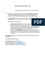 Class Routines and Guidelines for Assessments (Students' Copy)
