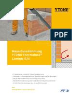 Broschüre Ytong Thermofuss