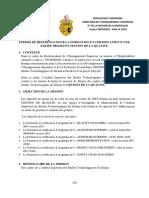TERMES DE RÉFÉRENCE POUR LA FORMATION ET CERTIFICATION D'UNE