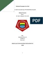 Tugas SP Hukum Kontrak ( M. Fika A. H. 184301257 Kelas C) Nilai Asal C