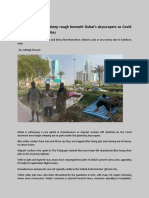 Homeless Migrants Sleeping on the Roads in Dubai | UAE Human Rights | Dubai Migrant workers condition - Telegraph