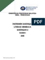 INSTRUMEN SARINGAN LITERASI MEMBACA BAHASA MELAYU SARINGAN 2 TAHUN 1 2015 (1).pdf