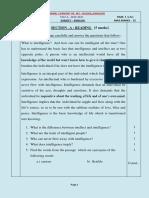English Test 2 Std 9