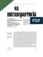 A nova intransparencia - Habermas