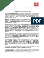 Festival Primavera en Llamas contra el acuerdo porcino  · Gacetilla de prensa