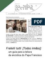 2190 - Fratelli tutti, [Todos Irmãos] um guia para a leitura da encíclica do Papa Francisco