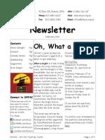 Newsletter Feb 2011