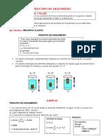 GUIA N° 2 PRINCIPIO DE ARQUIMEDES