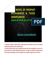 The Wives of Prophet Muhammed & their Significances