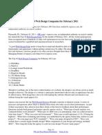 topseos.com Ranks Top 10 Web Design Companies for February 2011