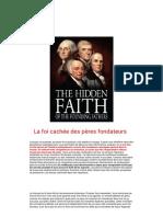 La Foi Cachée Des Pères Fondateurs