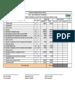 Planilha quantitativos e custos