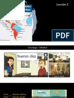Clase de español lección 3