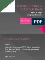 PSICOLOGÍA DE LA PERSONALIDAD Introducción