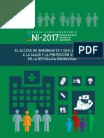 El acceso de inmigrantes y descendientes a la salud y la protección social en la República Dominicana (1)