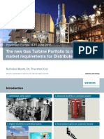 The new Gas Turbine Portfolio to meet the market requirements for Distributed Generation
