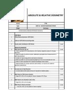 Spesifikasi Absolute & Relative Dosimetry