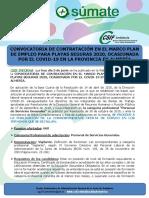 NOTA INFORMATIVA ALMERÍA CONVOC. CONTRAT. PLAN EMPLEO PARA PLAYAS SEGURAS 2020.06.05