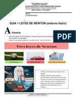 leyes de newton guia 1 entorno fisico grado 7