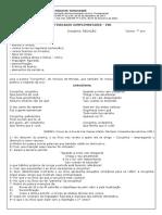 AC PB1 REDAÇÃO 7 ANO Corujinha corrigido