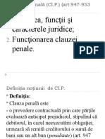 V. Clauza penala