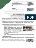Guía No. 11  de 8° MMC y Mentefactos