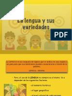 Lengua-VARIEDADES DE LA LENGUA