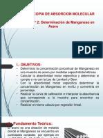 LAB. N° 2 - DETERMINACIÓN DE MANGANESO EN ACERO