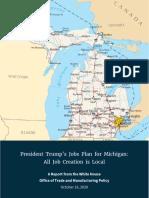 President Trump Michigan jobs plan