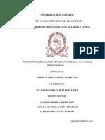 proyecto curricular de centro UNA MIRADA  A LA CALIDAD INSTITUCIONAL