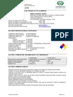 1. HDS Sulfato de Aluminio Solución