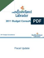 2011 Pre-Budget Presentation