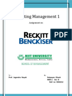 RECKITT   BENCKISER PROJECT