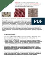 ESTRUCTURAS CRISTALINAS resumen