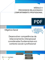 Processos Relacionais e Comportamento Profissional