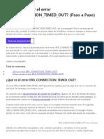 Cómo corregir el error ERR_CONNECTION_TIMED_OUT