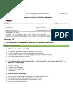 Evaluación formativa 3° historia septiembre