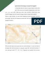 Cara Umum Menghitung Persentase Kemiringan Lereng Pada Topografi