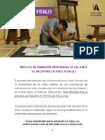 REQUISITOS - ARTES VISUALES IIS2020