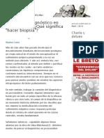 Acerca del diagnóstico en psicoanálisis_ ¿Qué significa _hacer biopsia__ _ Topía