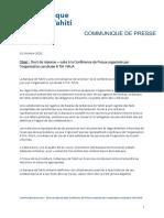 201015 Communiqué de presse - Droit de Réponse