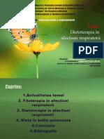 Dietoterapia în afectiuni respiratorii.