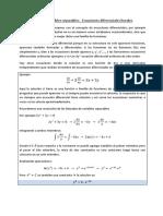 Ecuaciones diferenciales reducibles separables